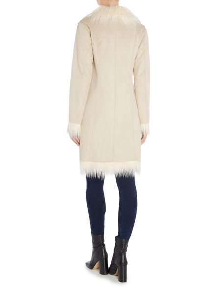 Oui Shaggy faux shearlin coat