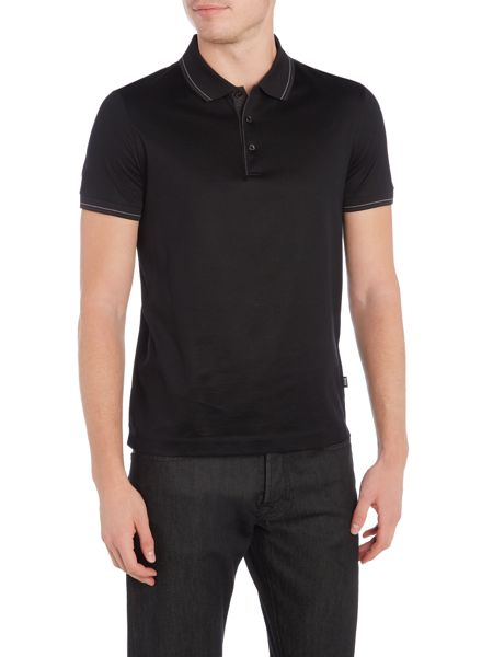 Hugo Boss Phillipson Slim Fit Tipped Mercerised Polo Shirt