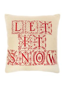 Linea Let it snow cushion