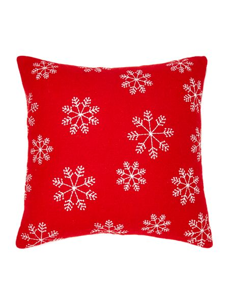 Linea Snowflake cushion