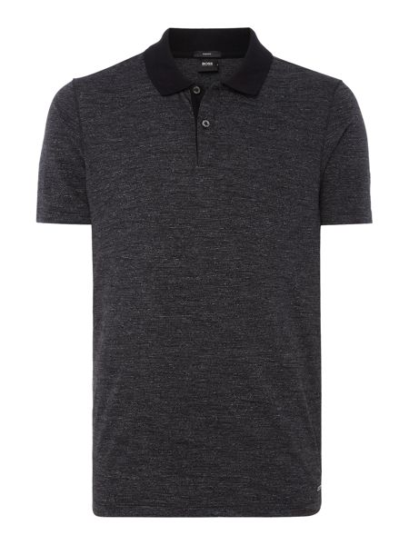 Hugo Boss Plater Slim Fit Slub Yarn Short Sleeve Polo Shirt