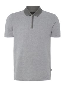 Hugo Boss Polston Slim Fit Zip Collar Polo Shirt