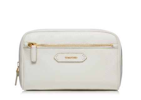 Tom Ford Small Cosmetics Bag White Leather