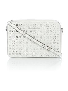 Michael Kors Jetset travel white crossbody bag