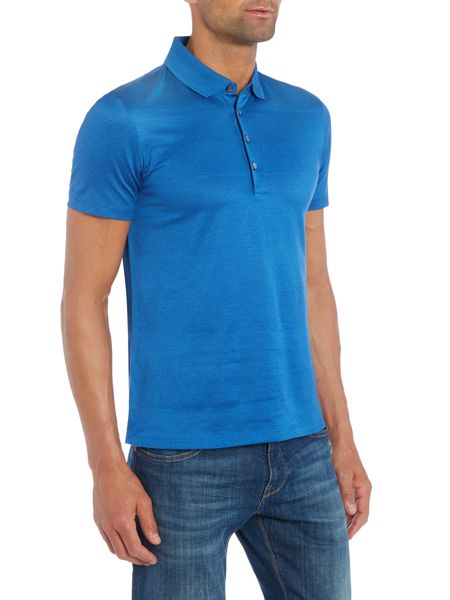 Hugo Boss Pitton Slim Fit Textured Stripe Polo Shirt