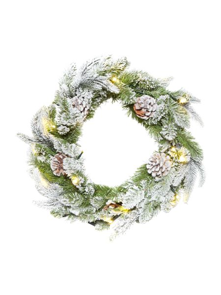 Linea 18 Light up natural snow wreath