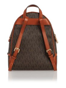 Michael Kors Rhea zip brown medium backpack