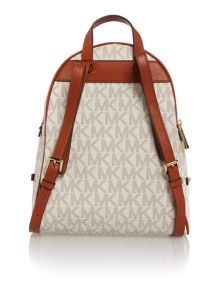 Michael Kors Rhea zip neutral medium backpack