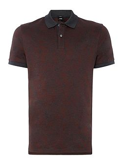 Phillipson Slim Fit Jaquard Woven Polo Shirt