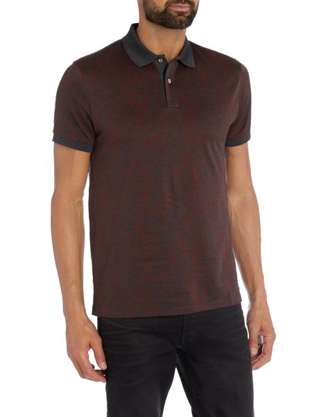 Hugo Boss Phillipson Slim Fit Jaquard Woven Polo Shirt