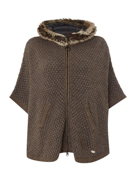 Barbour Islay cape with faux fur trim hood
