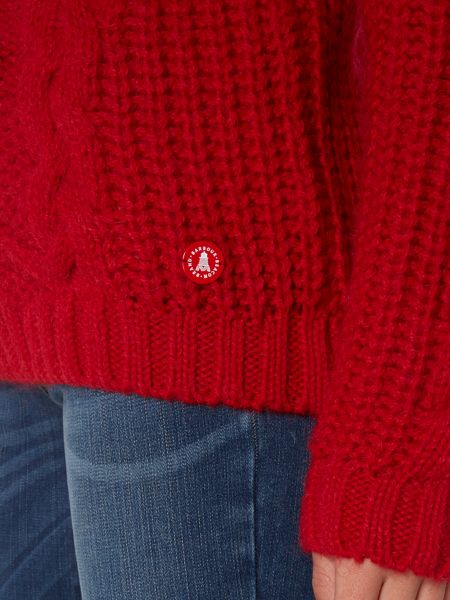 Barbour Moraine chunky knit polo neck jumper