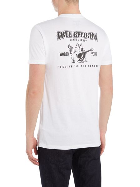 True Religion Traditional Logo Crew Neck T Shirt