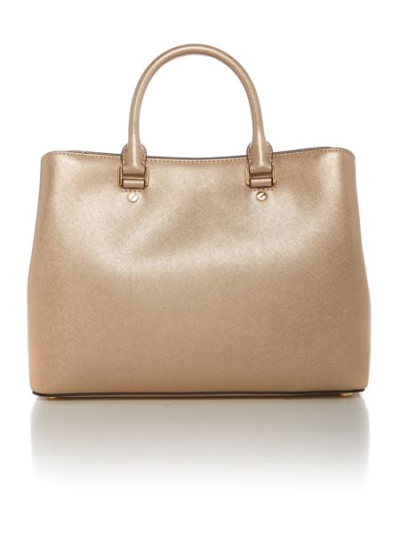 Michael Kors Savannah gold large tote bag