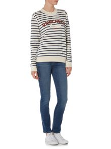 Barbour Epler stripe sweatshirt