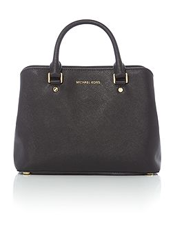 Savannah black medium tote bag