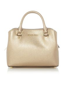 Michael Kors Savannah gold small tote bag