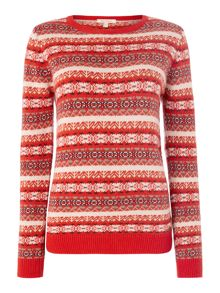 Barbour Mallow printed knit jumper