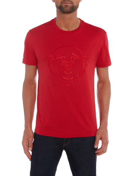 True Religion Emroidered Buddha Crew Neck T Shirt
