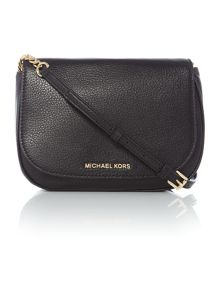 Michael Kors Bedford black flapover cross body bag