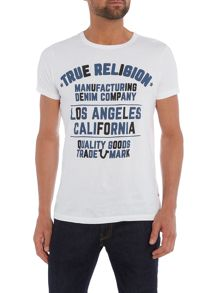 True Religion Slogan Print Crew Neck T Shirt