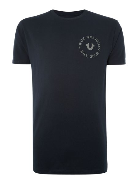 True Religion Crafted with Pride Logo Crew Neck T Shirt