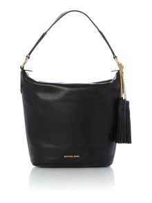 Michael Kors Elana black shoulder  tote bag