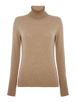 Faray roll neck with Barbour elbow patch