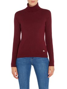 Barbour Faray roll neck with Barbour elbow patch