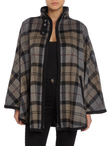 Barbour Bruway Barbour check wool cape