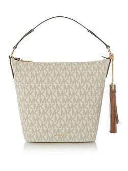 Elana neutral shoulder tote bag
