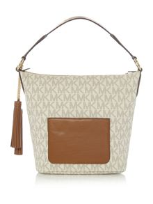 Michael Kors Elana neutral shoulder  tote bag