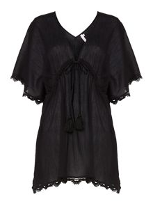Seafolly Crochet trim kaftan