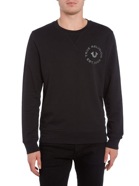 True Religion Crafted with Pride Crew Neck Sweat Top