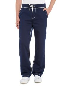 True Religion Contrast Stitch Wide Leg Sweat Pants