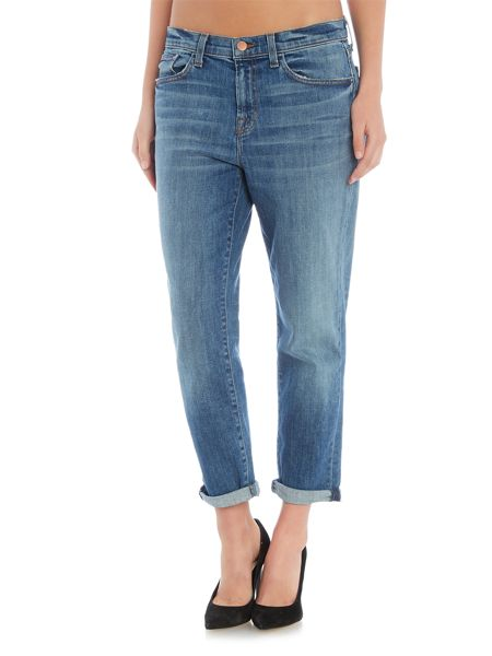J Brand Sadey straight slim leg jean in old rose