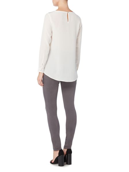 Gray & Willow Skye silk cross over hem top
