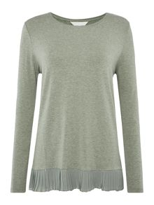 Gray & Willow Pina pleat and sequin hem top