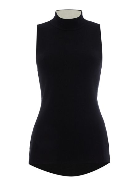 Ellen Tracy Sleeveless high neck top