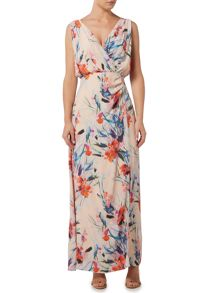 Ariella Side wrap maxi dress