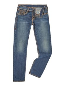 True Religion Geno Super Slim Fit with Flap Mid Wash Jeans