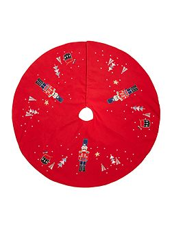 Red Nutcracker tree skirt