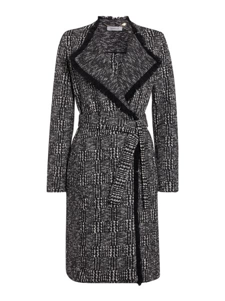 Marella Ghisa check textured wool coat