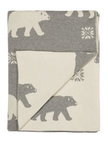 Linea Polar bear knit throw