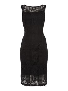 Ellen Tracy Sleeveless lace overlay shift dress