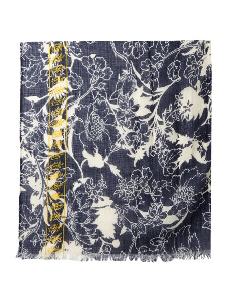 Dickins & Jones Indigo Flower Print Scarf