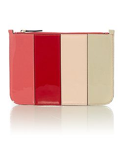 Rosie stripe clutch bag