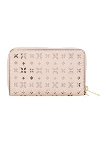Michael Kors Jetset pink multi fuction zip around purse