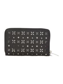 Michael Kors Jetset black multi fuction zip around purse