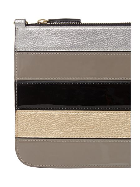 Therapy Rosie metallic stripe clutch bag